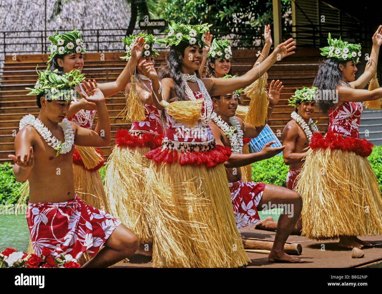 2183 Polynesian Cultural Centre Oahu Hawaii USA - Stock Image