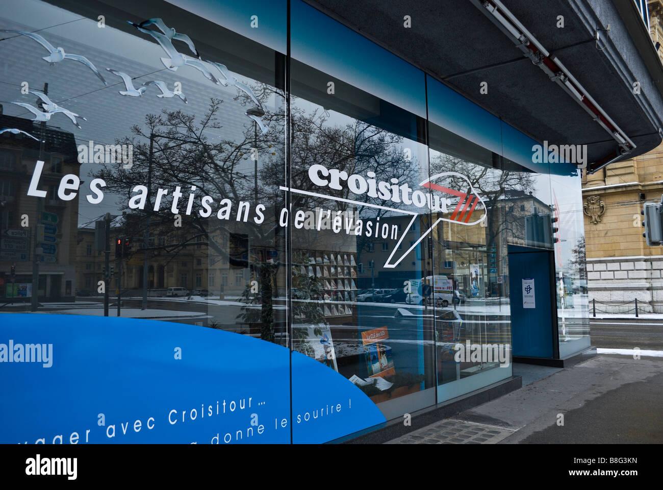 Croisitour Travel Agency office in Neuchatel Switzerland - Stock Image