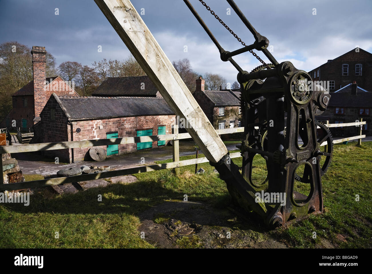 Cheddleton Flint Mill, near Leek, Staffordshire, England - Stock Image