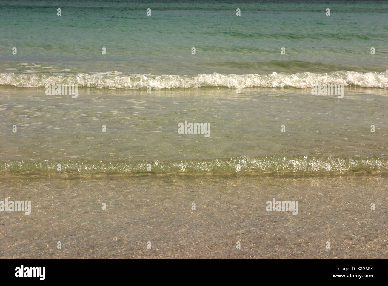Gentle surf, varadero beach, caribbean sea, cuba - Stock Image