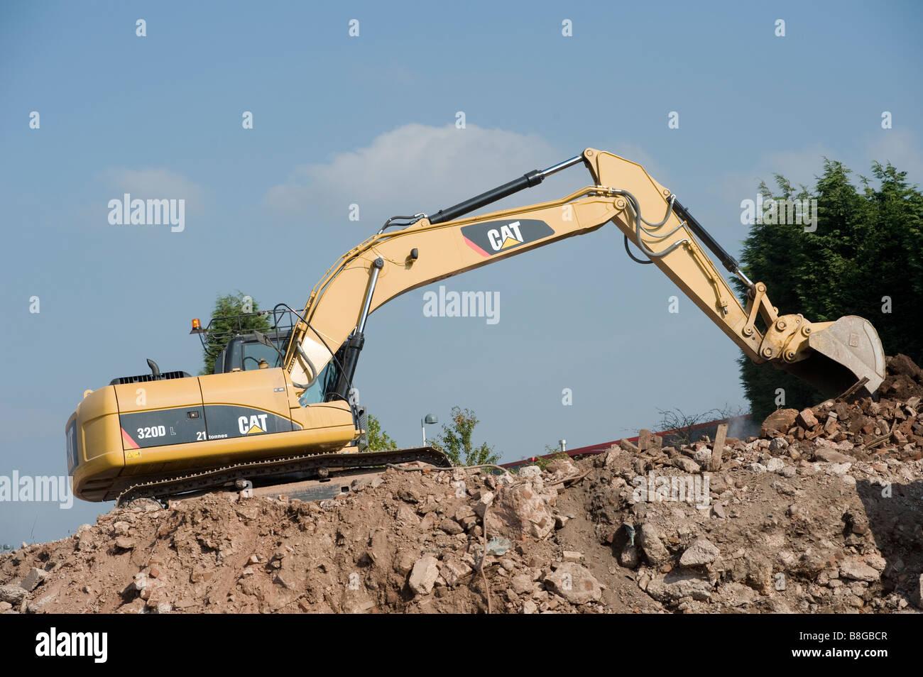 Excavators On Construction Site Stock Photos & Excavators On