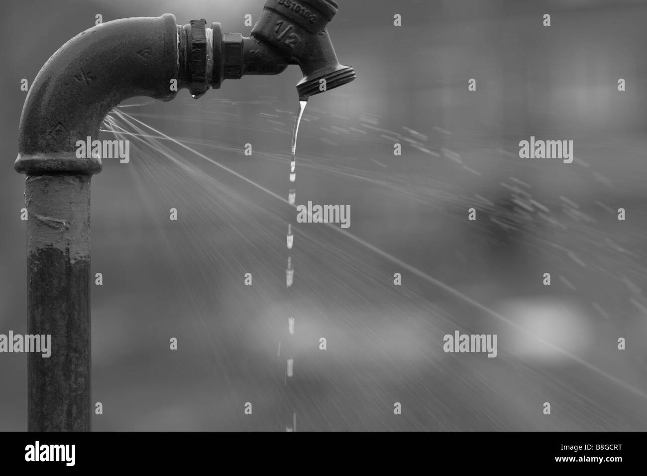 A leaky outside faucet Stock Photo: 22488924 - Alamy