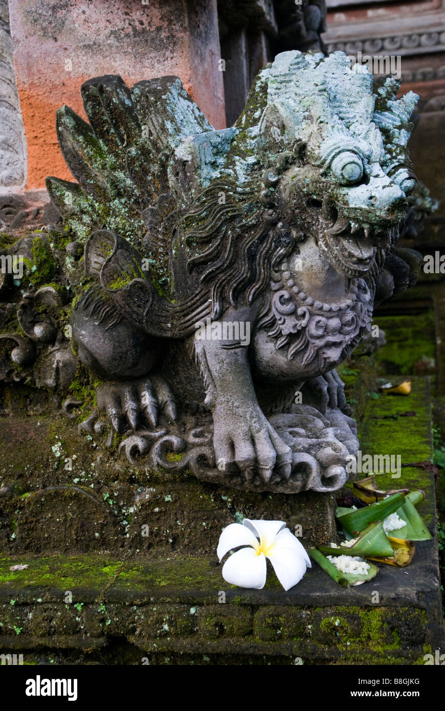 Demon statue at Pura Taman Saraswati temple in Ubud, Bali, Indonesia - Stock Image