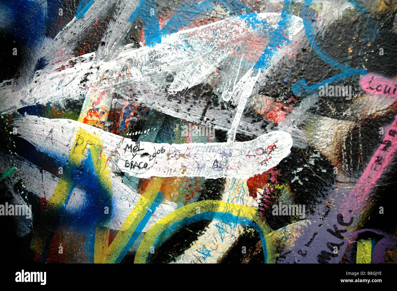 Graffiti On The John Lennon Wall In Prague
