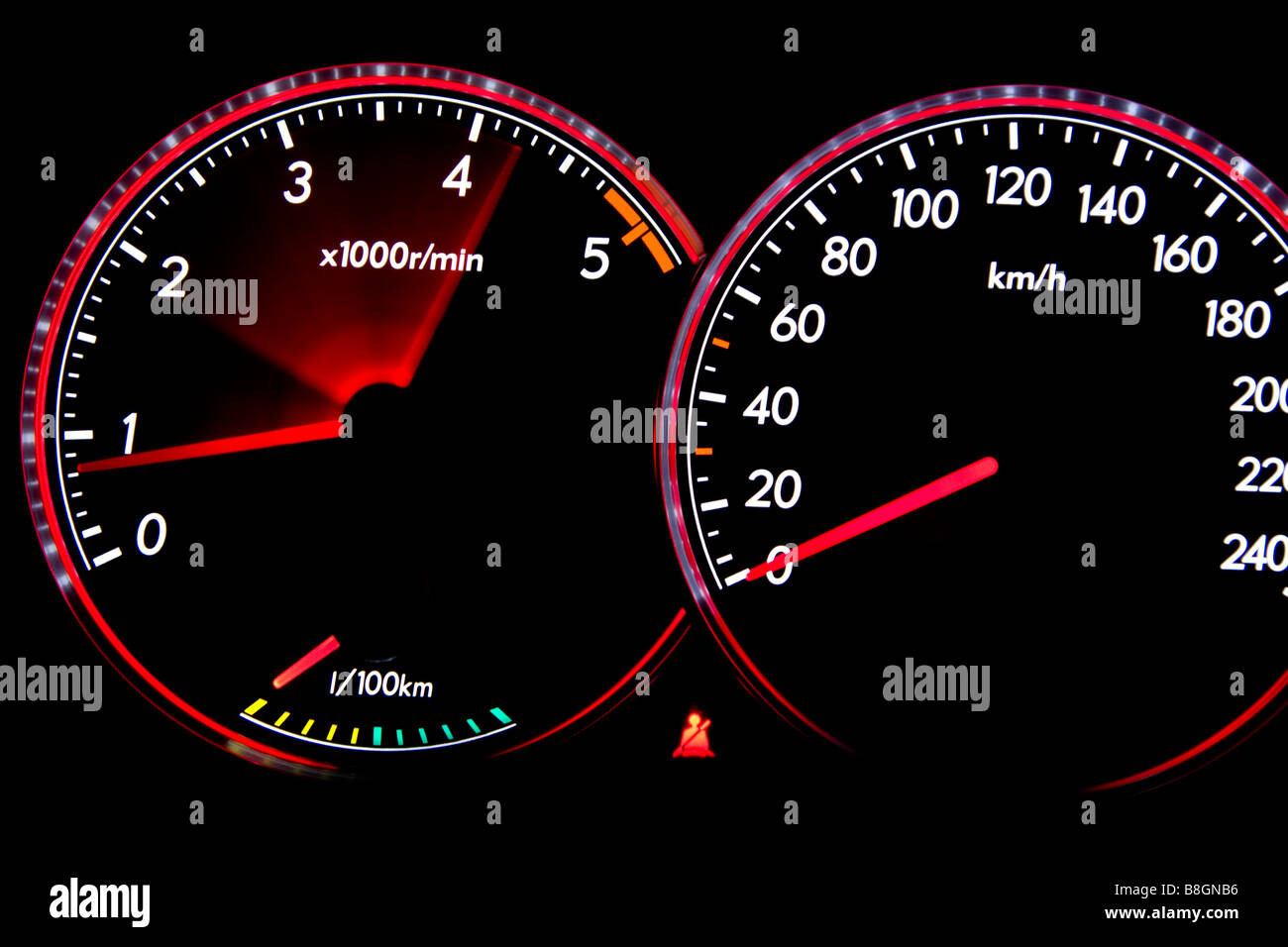 speedometer and rpm meter stock photo 22495626 alamy