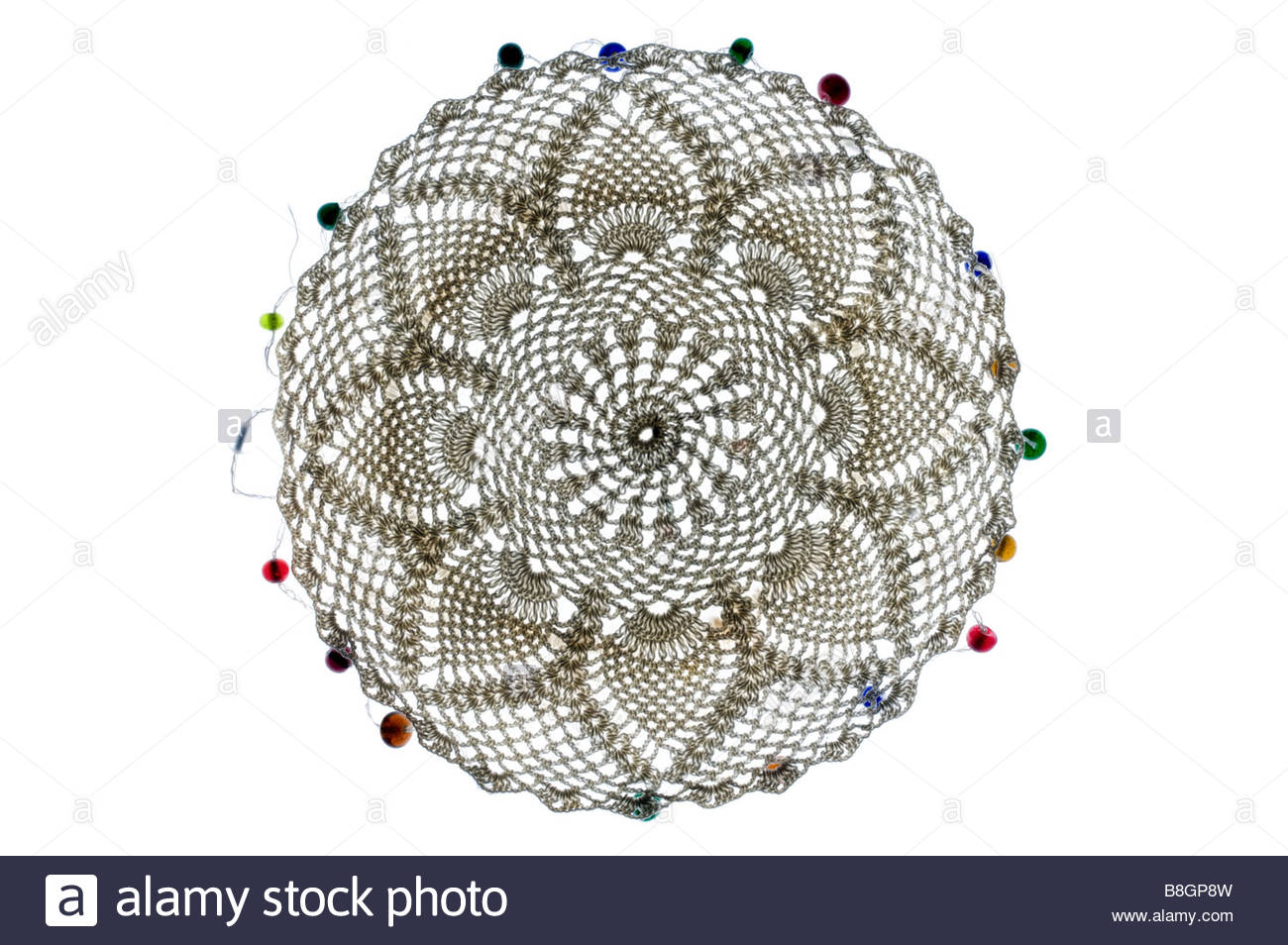 decorative doily made from lace - Stock Image