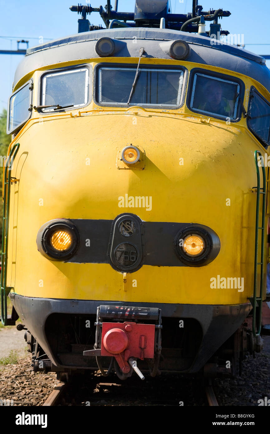 The front of a famous Dutch train icon: The original Dognose. Not in regular service anymore. NS electric multiple - Stock Image