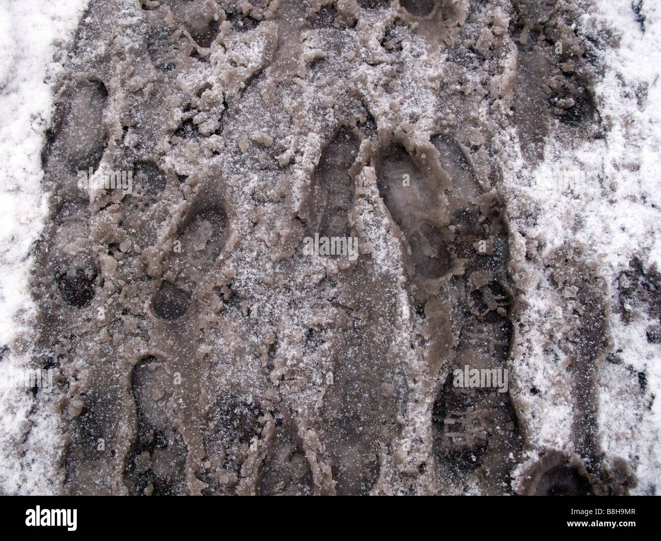 Snow sludge - Stock Image