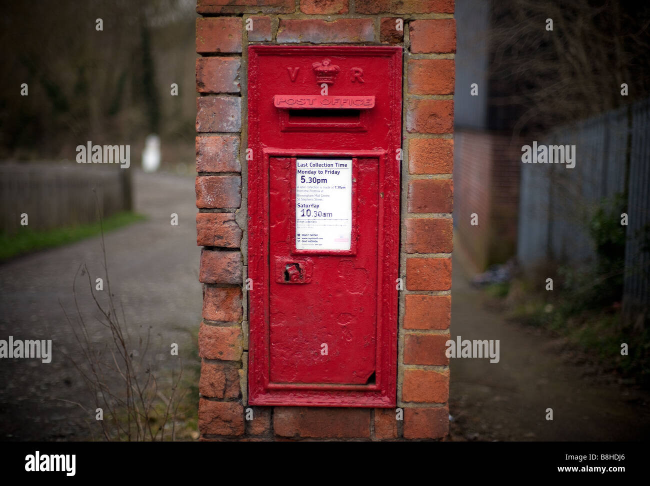 A Royal Mail post box in a rural setting Worcestershire England UK Stock Photo