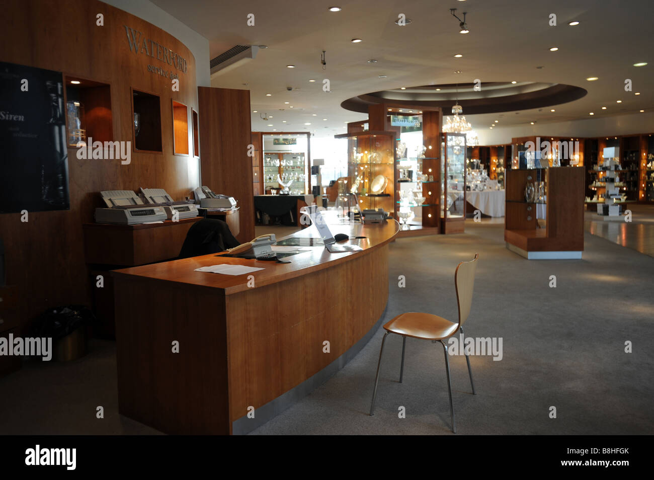 The empty Waterford crystal visitors centre in Waterford Ireland - Stock Image
