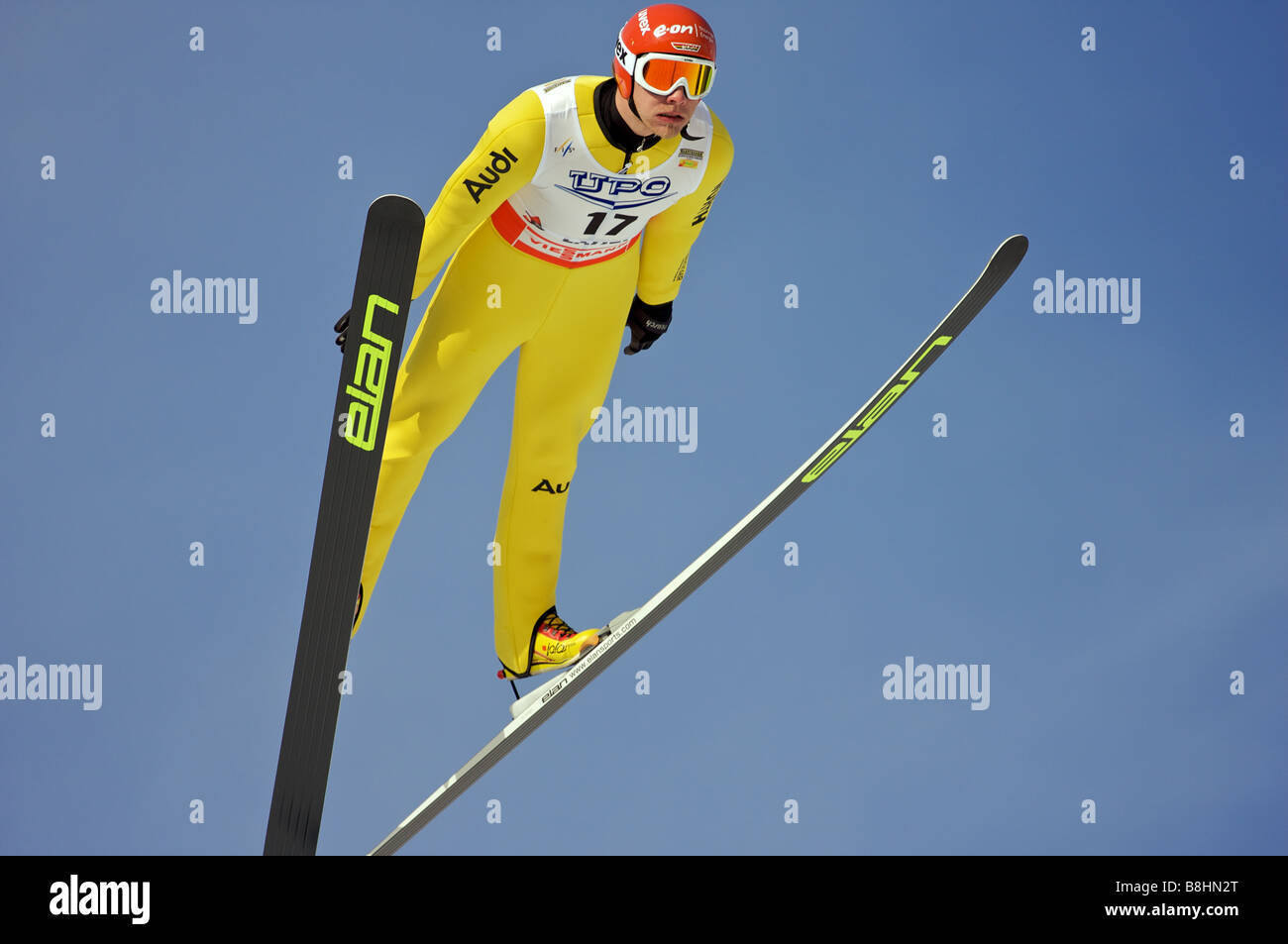 Christian BEETZ (GER) FIS World Cup Nordic Combined Ski jumping Lahti Finland 2008 - Stock Image