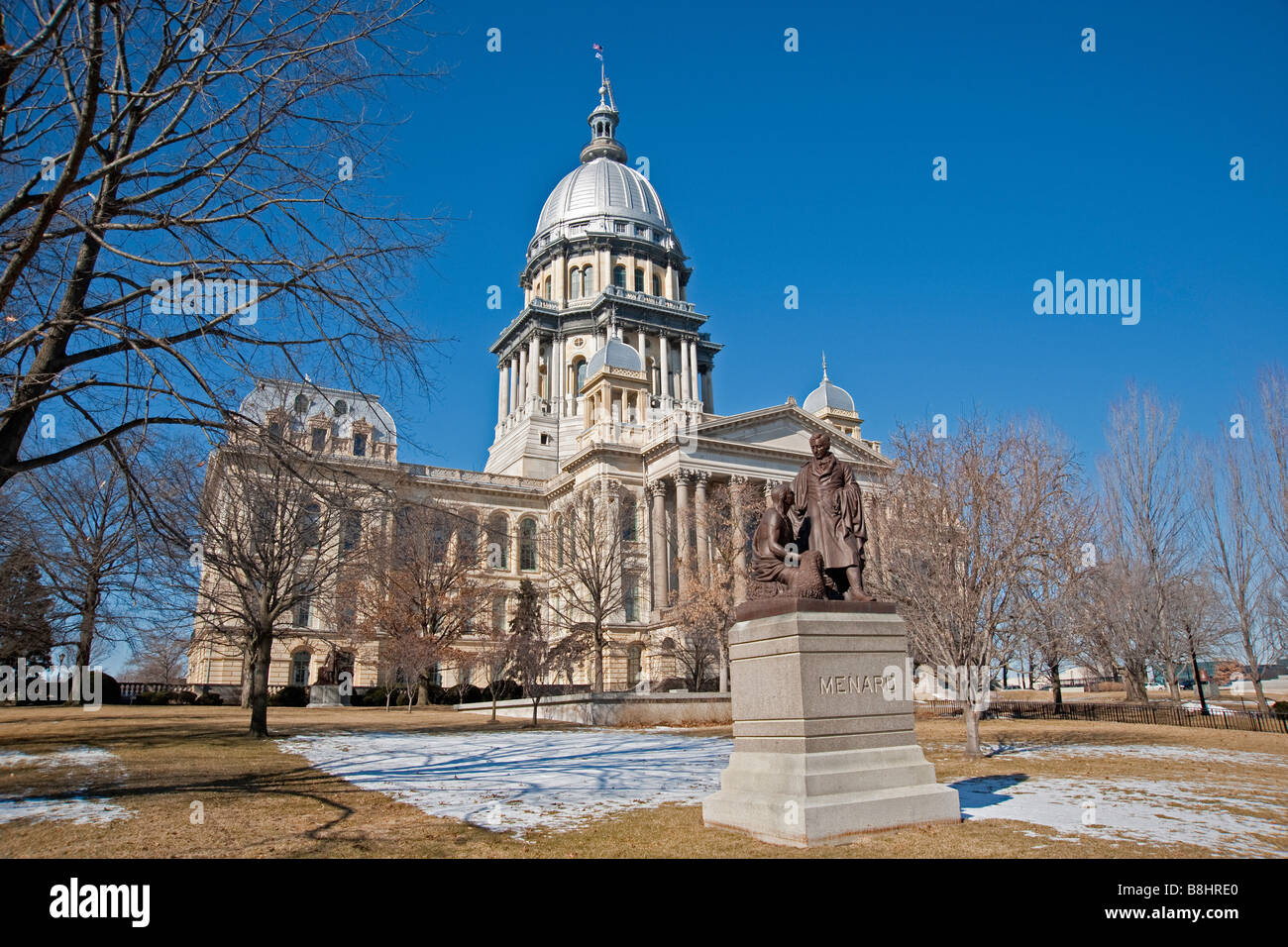 State of Illinois capitol building in Springfield, Illinois. - Stock Image