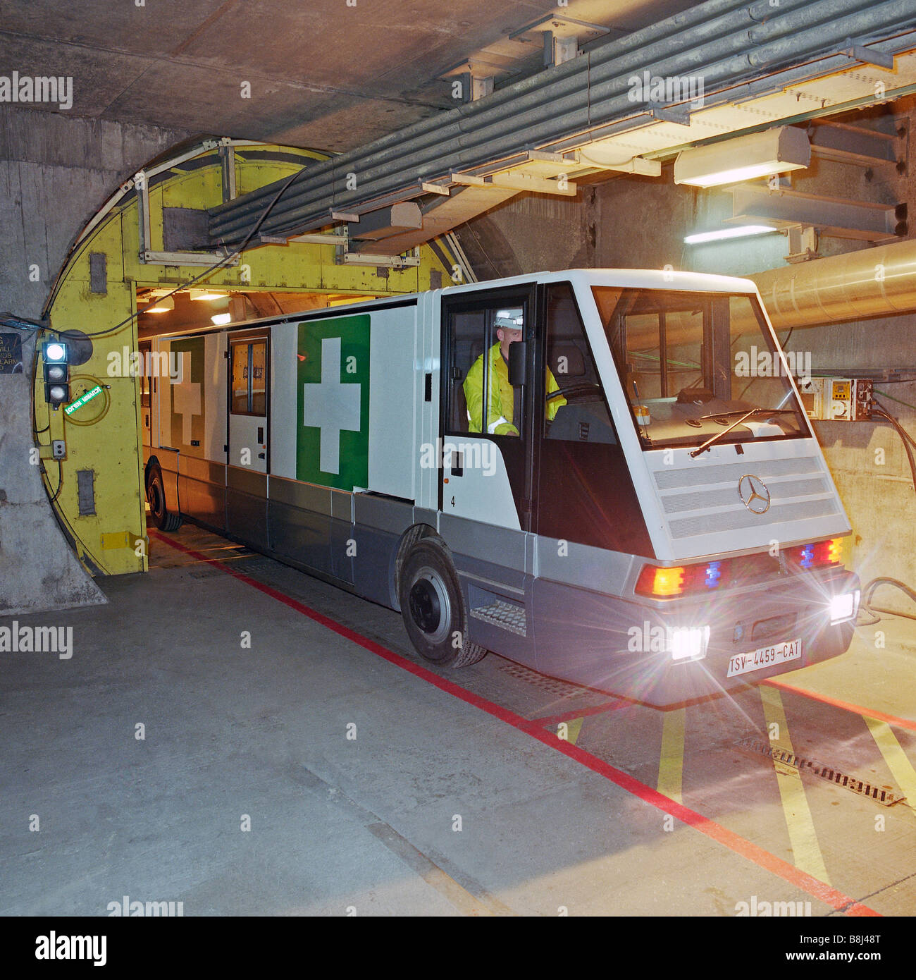 An Stts Ambulance Vehicle Specially Designed For The Channel Tunnel