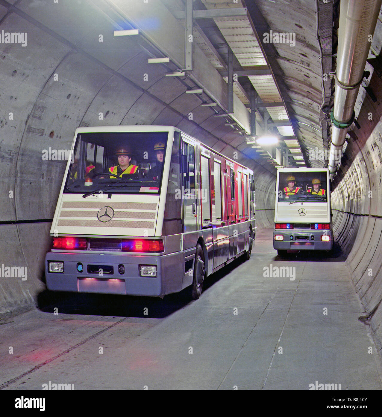 Two Stts Vehicles Specially Designed For The Channel Tunnel Service