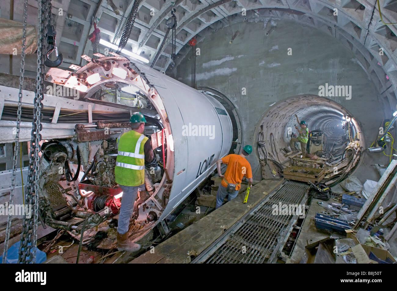 Contractors Prepare To Launch Tunnel Boring Machine To