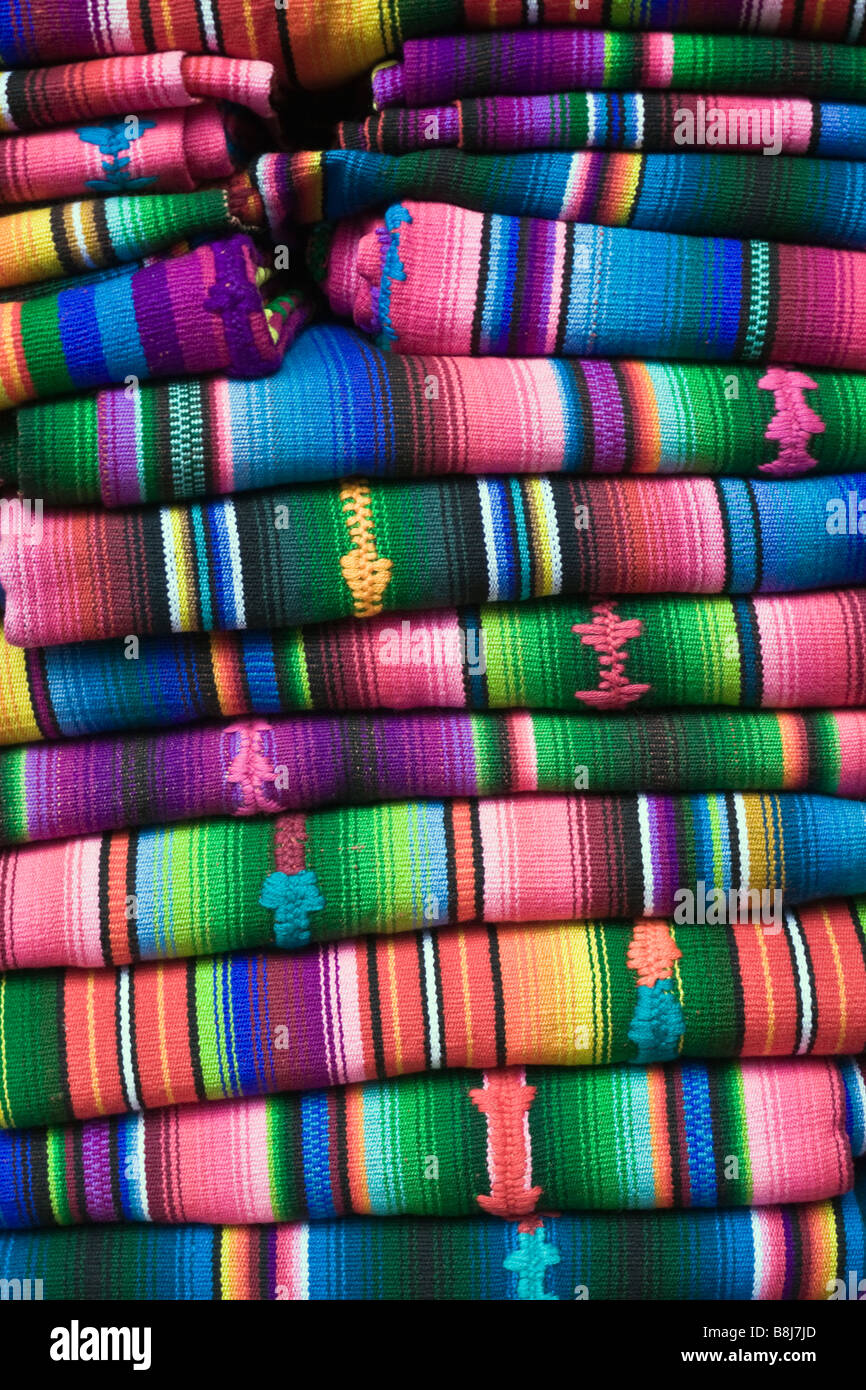 Colorful Blanket - Stock Image