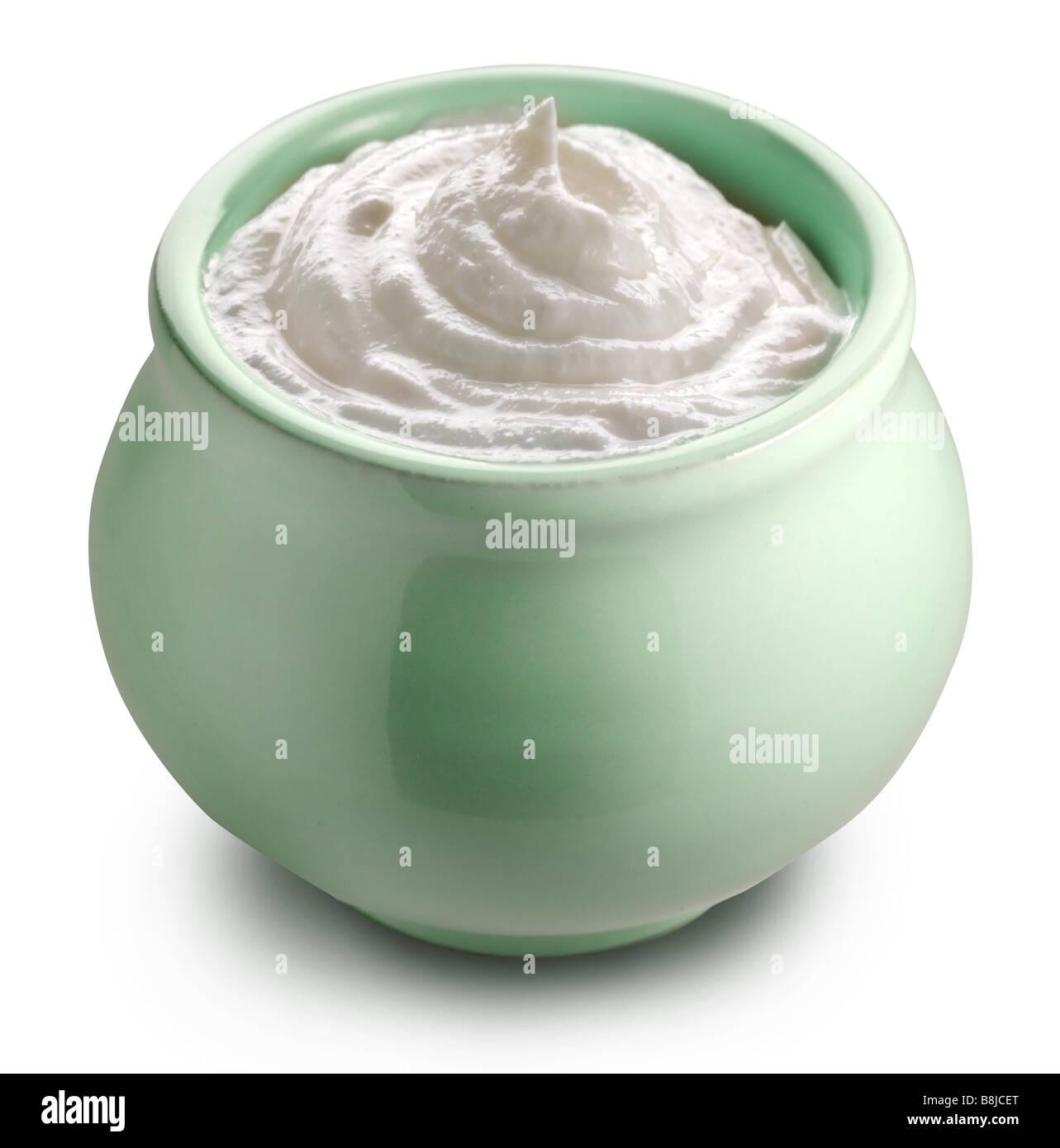 Pipkin with sour cream - Stock Image