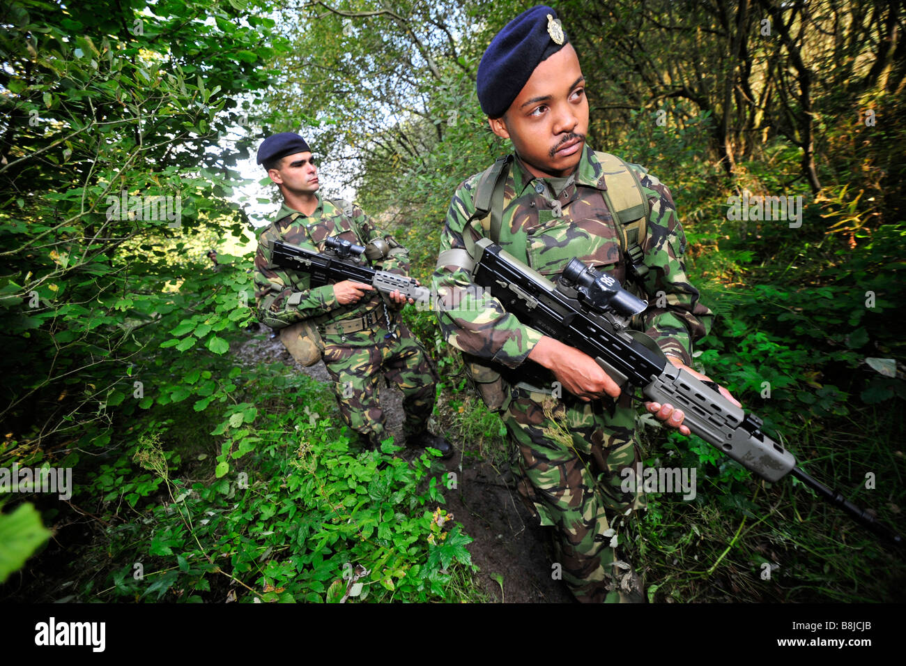 British army soldier training for war - Stock Image