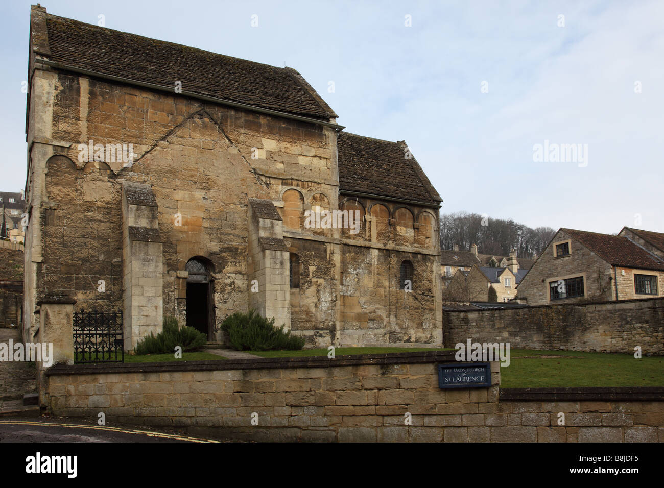 The Anglo-Saxon church of St Laurence, Bradford on Avon, Wiltshire, England - Stock Image