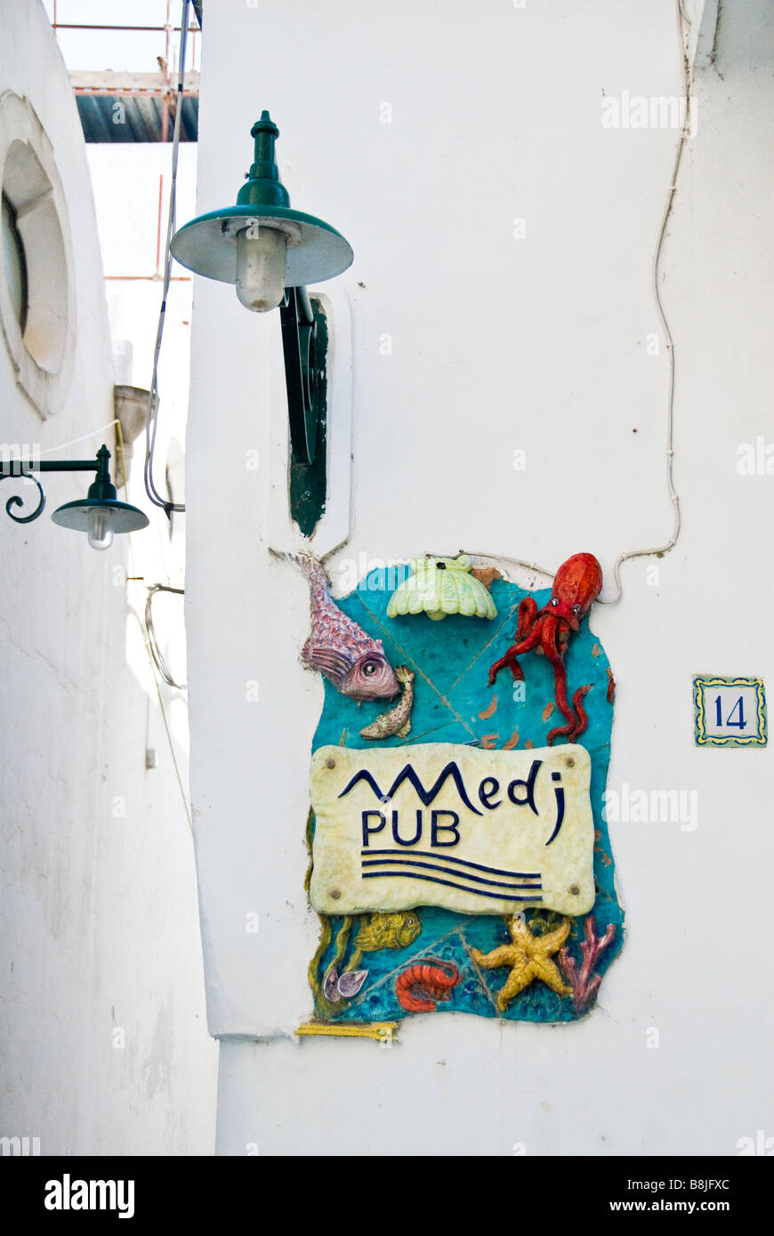 A door sign on the Island of Capri, Italy - Stock Image