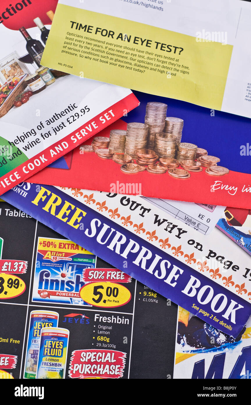 dh junk mail postal uk advertising leaflets direct mail offers