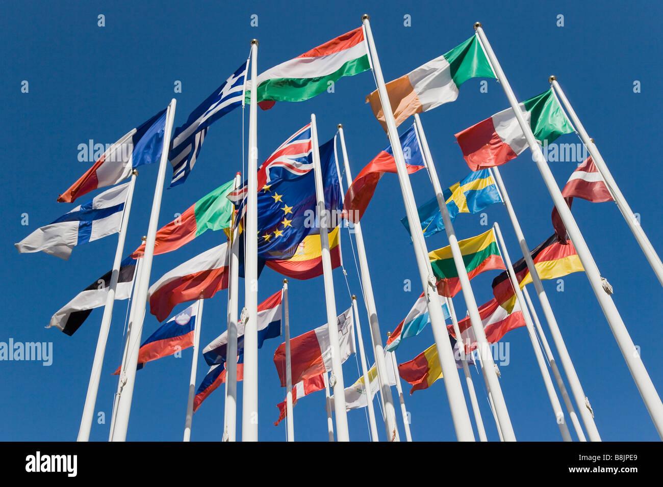 International flags - Stock Image