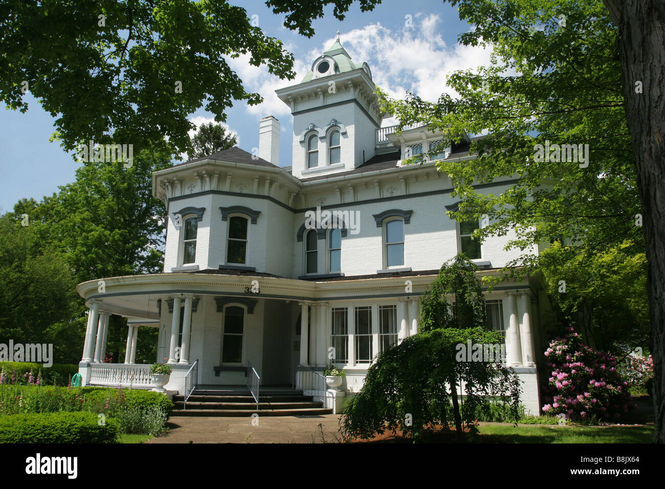 Jeremiah E Reeves Victorian Home Dover Ohio - Stock Image