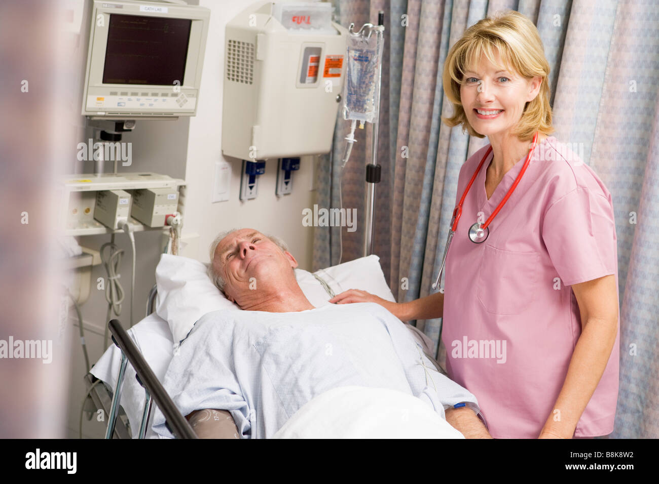 Doctor Caring For Patient - Stock Image