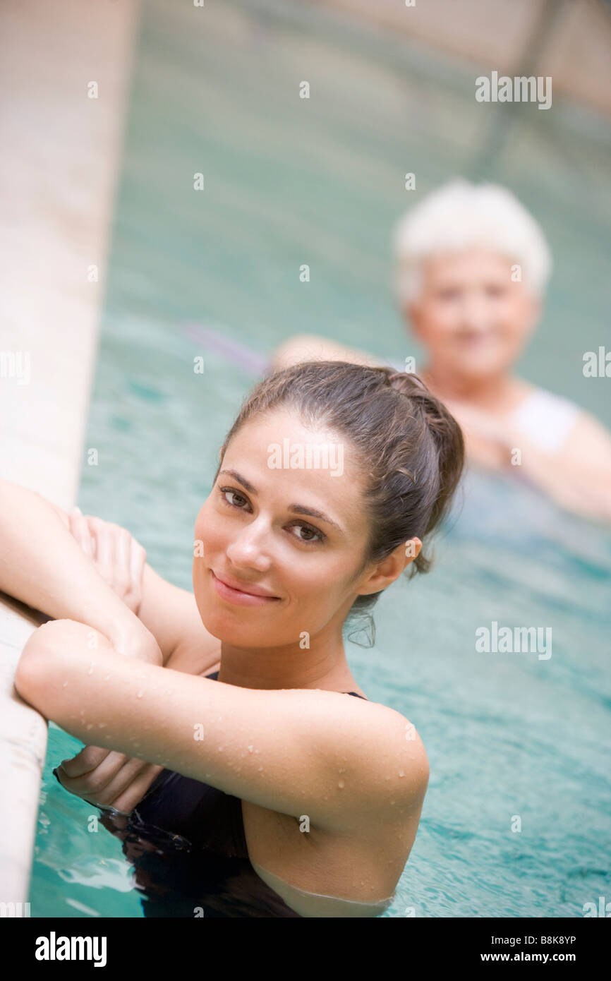 Portrait Of A Water Therapy Instructor - Stock Image
