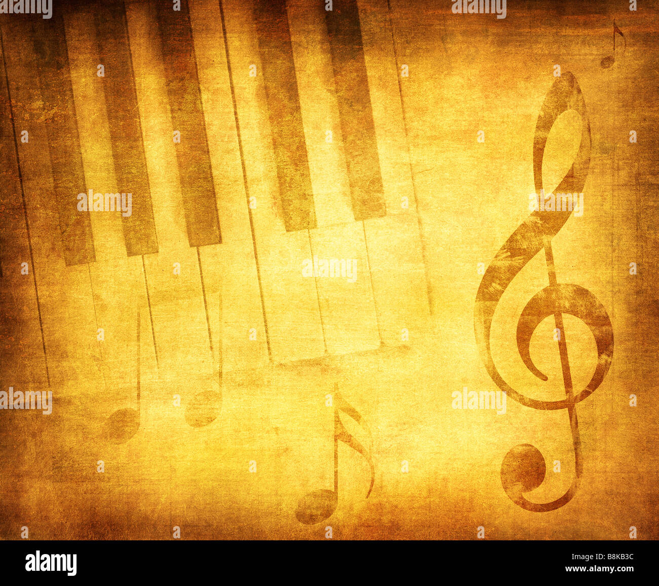 grunge music background with space for text or image - Stock Image