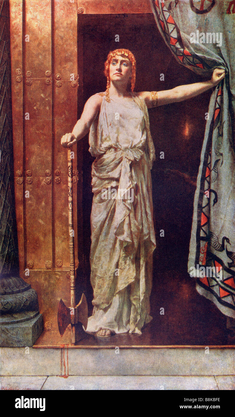 Clytemnestra after the painting by John Collier - Stock Image