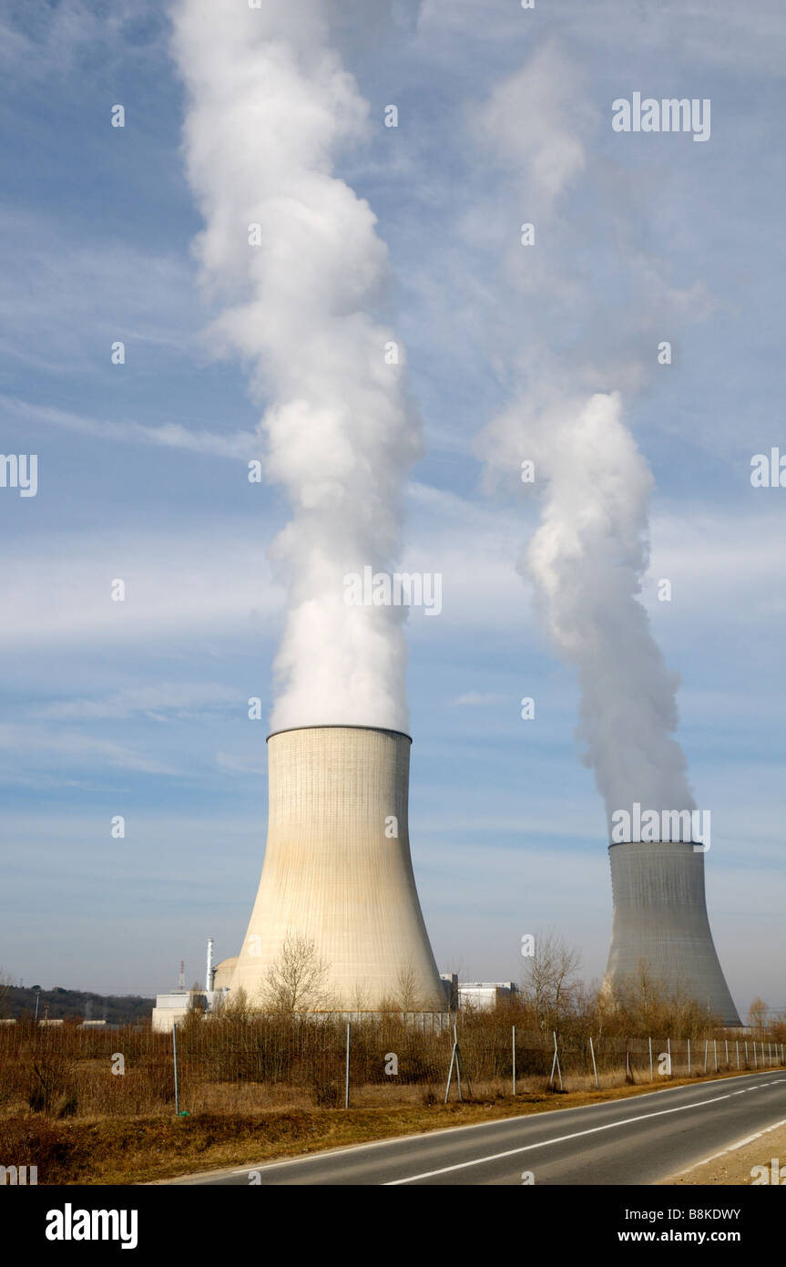 Stock photo of the nuclear power station at Civaux France - Stock Image