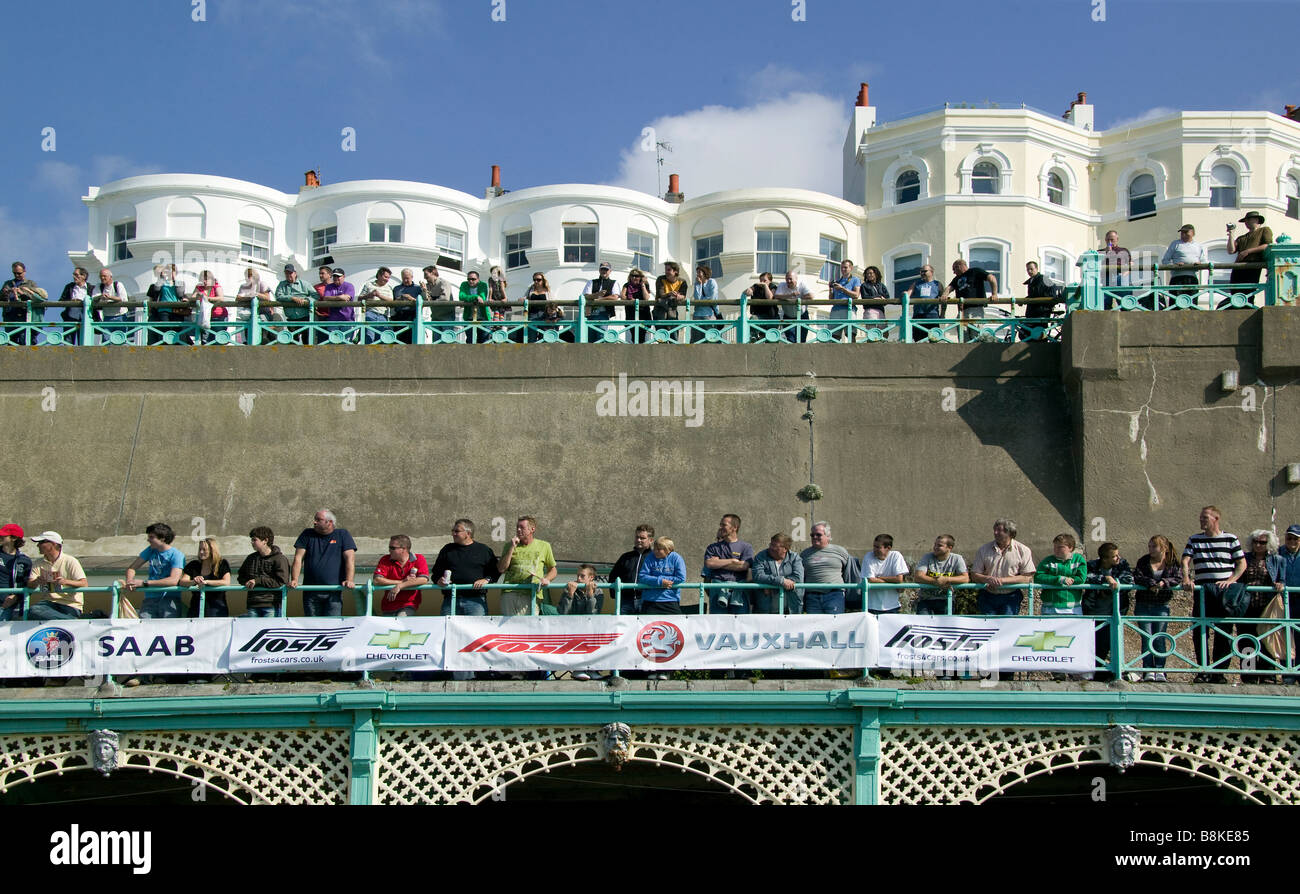 Brighton speed trials spectators viewing - Stock Image
