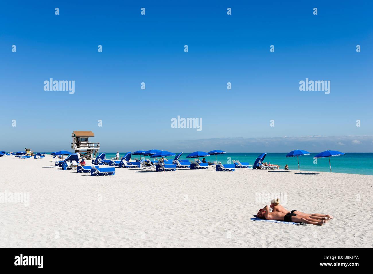 South Beach, Miami Beach, Gold Coast, Florida, USA - Stock Image