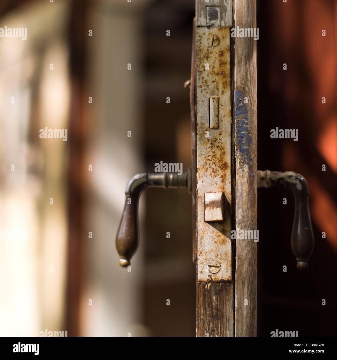 Old open door - Stock Image