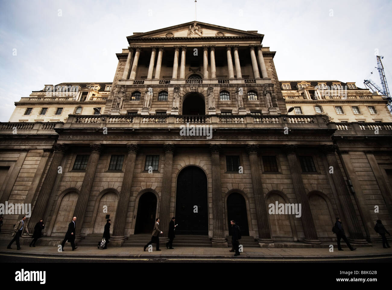 The Bank of England Building in Threadneedle Street London - Stock Image