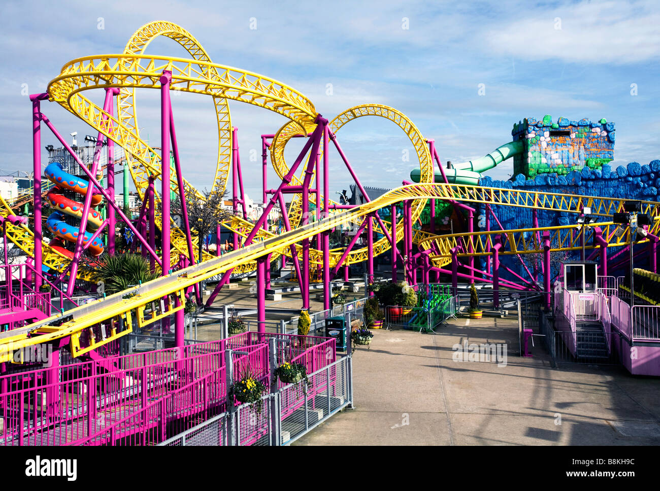 Theme park at Southend Essex - Stock Image