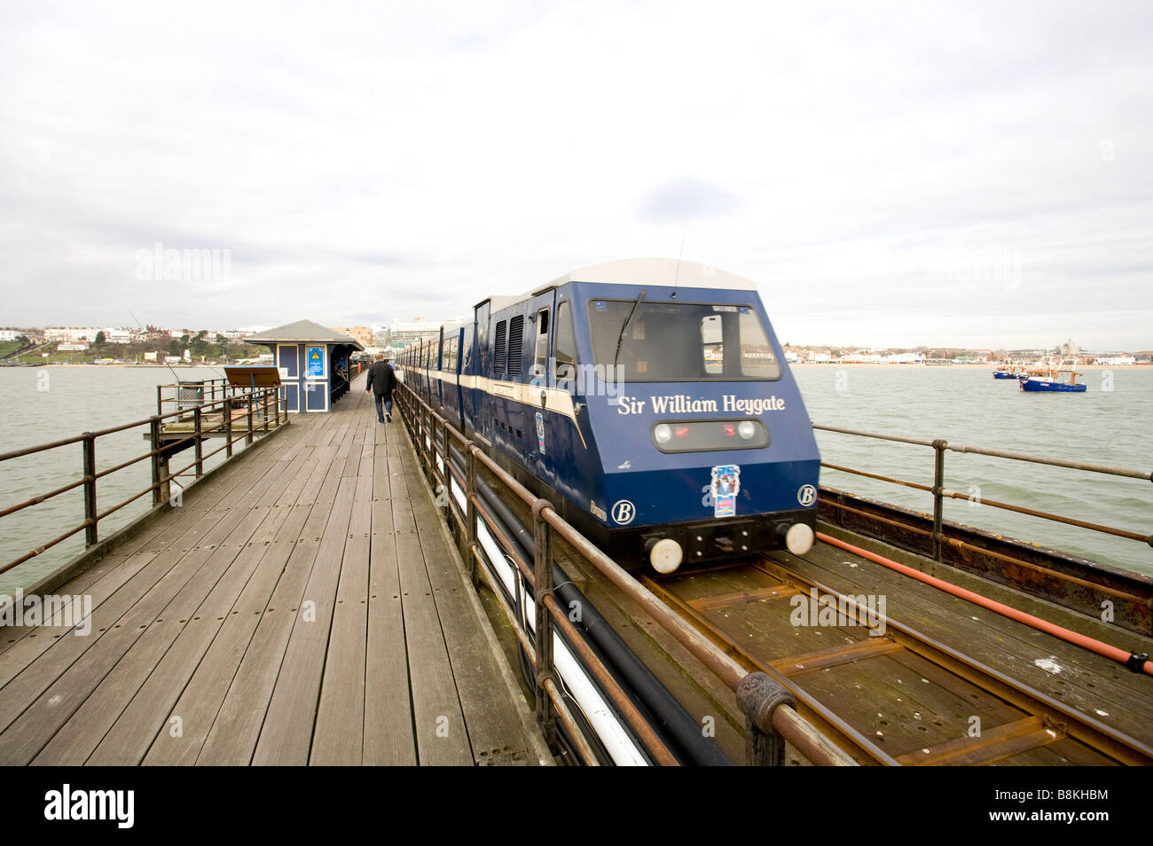 The train on Southend Pier - Stock Image
