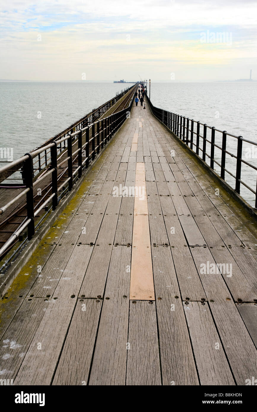The Pier at Southend on Sea - Stock Image