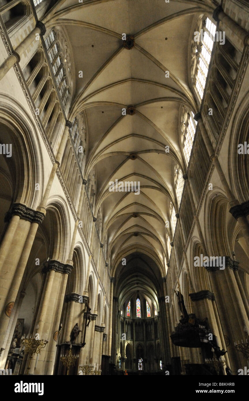 Gothic Groin Vaults Notre Dame Cathedral St Omer France