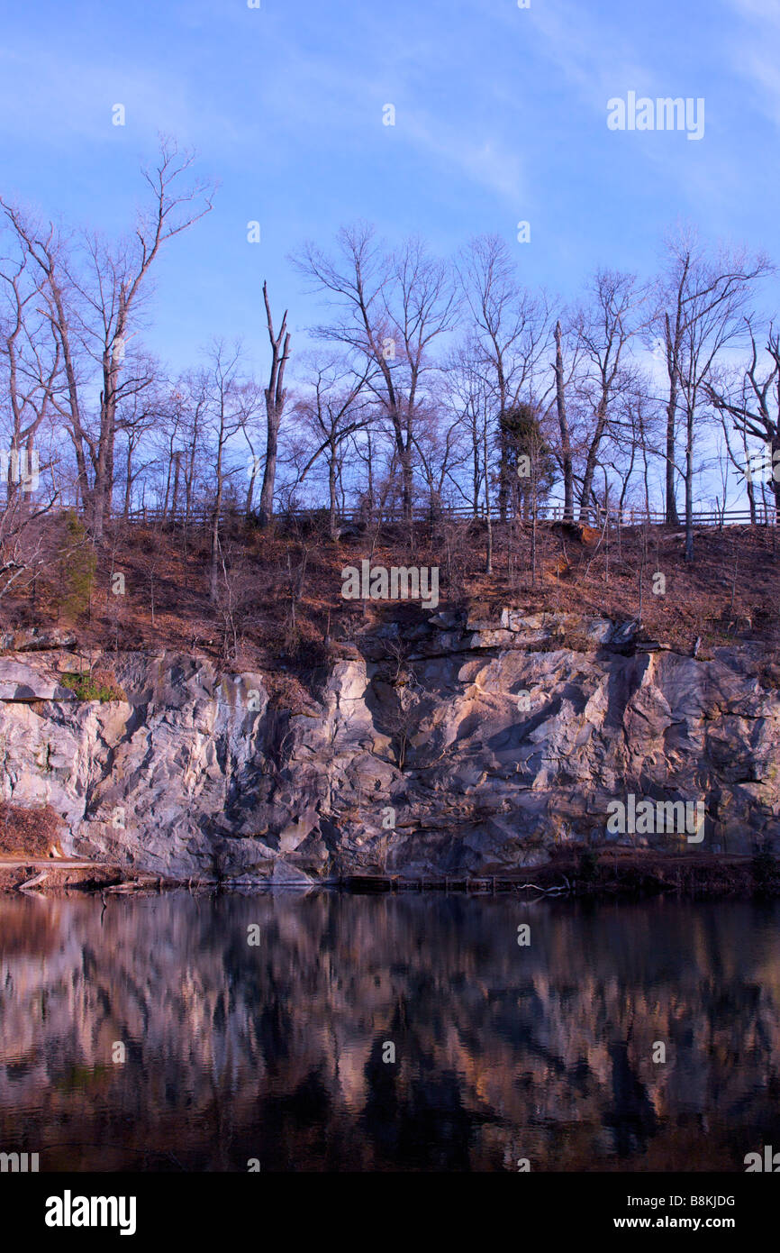 Flooded quarry on Belle Isle, in Richmond, Virginia. - Stock Image