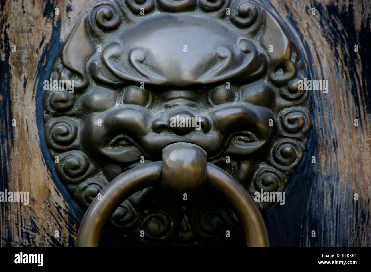 Keeping Guard At A Buddhist Temple The Large Bronze Foo Dog Door