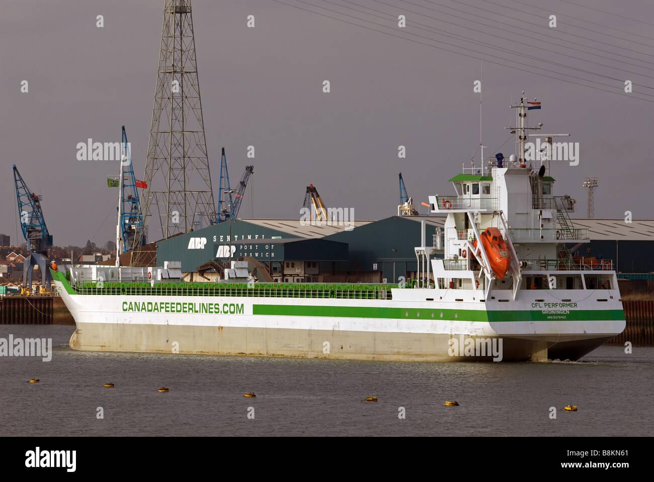 Port of Ipswich, Suffolk, UK. - Stock Image