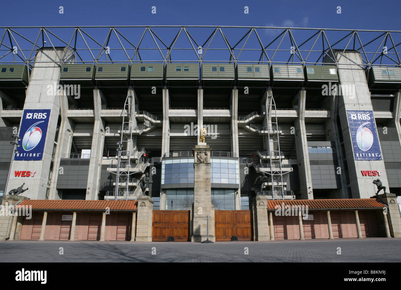 Twickenham Stadium West Stand - Stock Image