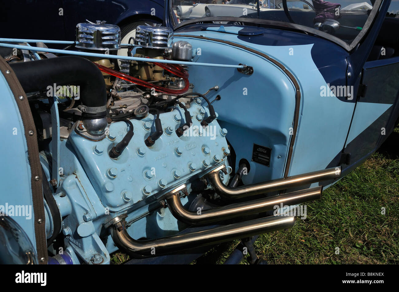 Ford Flathead V8 Engine Stock Photos 1948 Truck 6 In Model A Pickup 1950 S American Hotrod Car Image