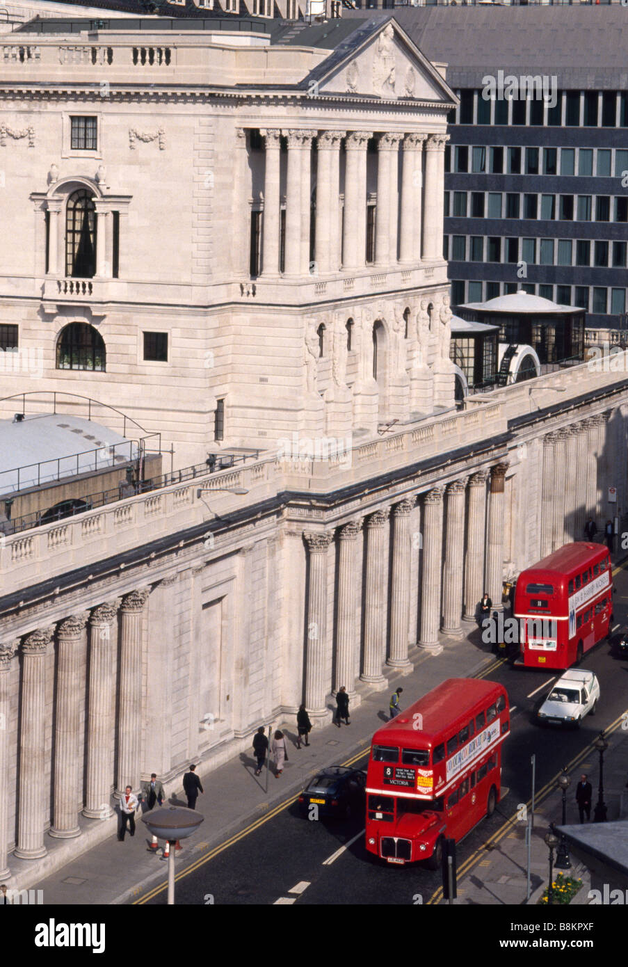 Bank of England The front exterior of the Bank of England London - Stock Image