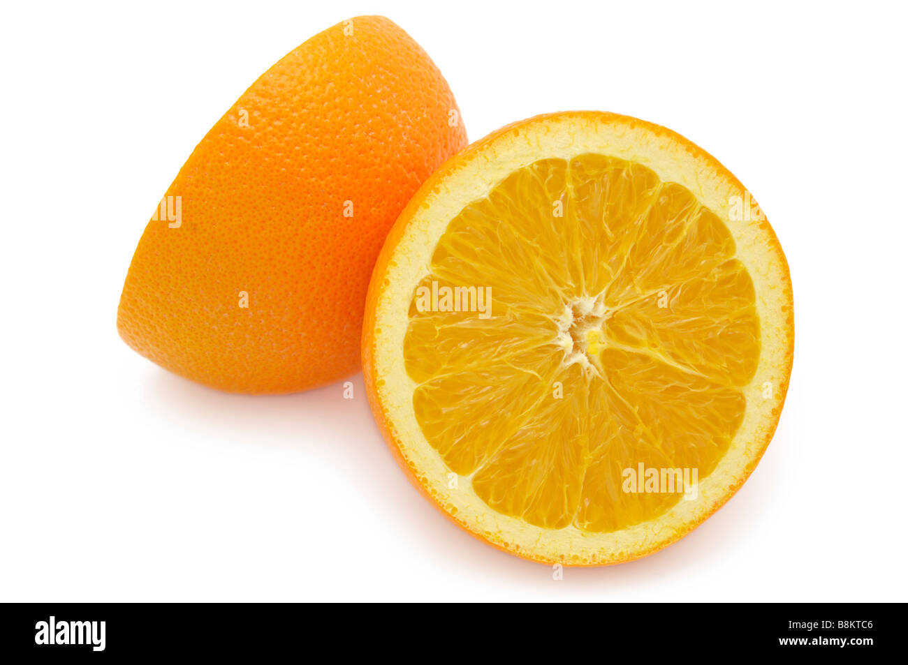 Two Halves of an Orange - Stock Image