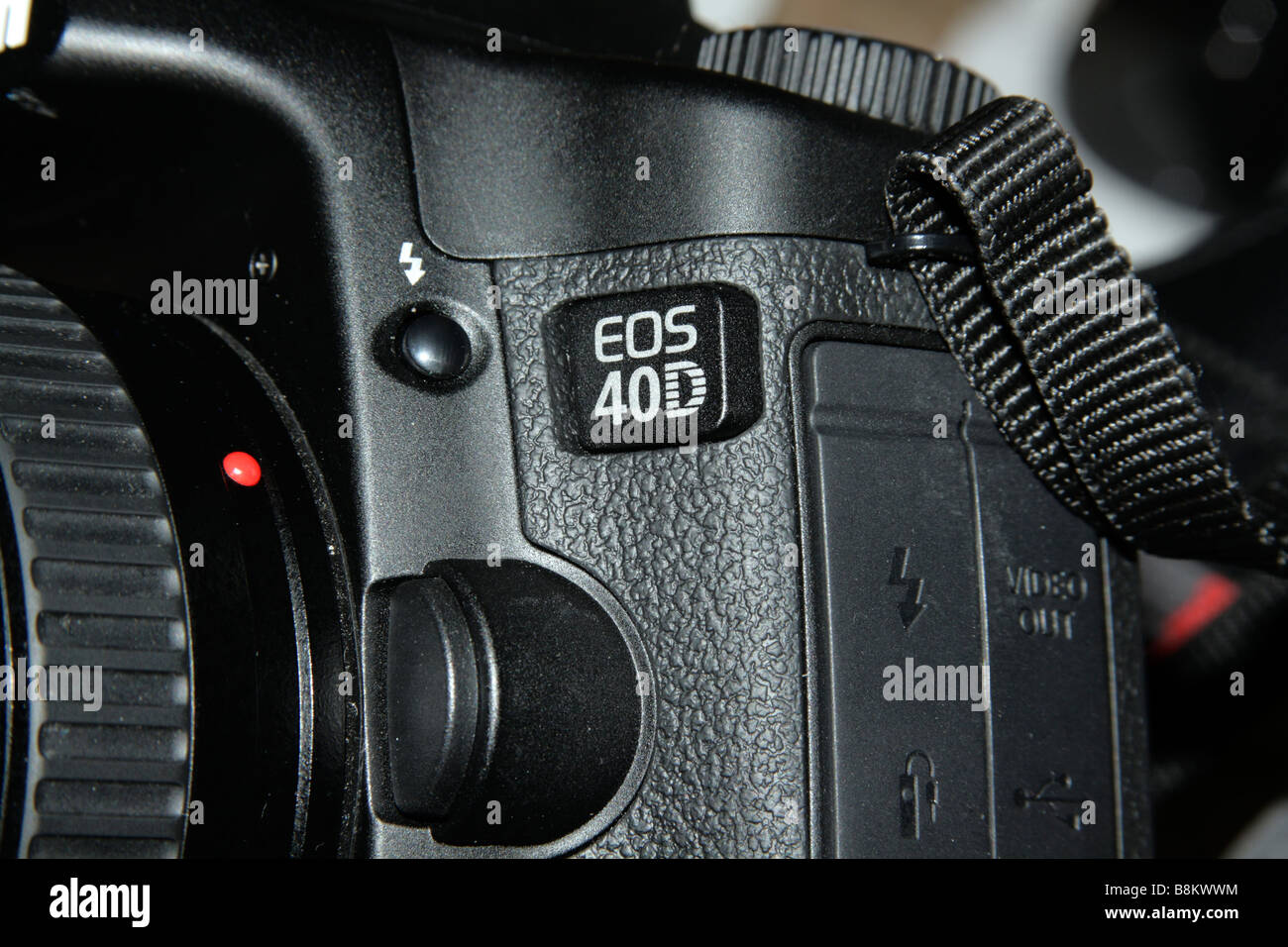 Canon EOS 40D logo and camera side, 2008 Stock Photo