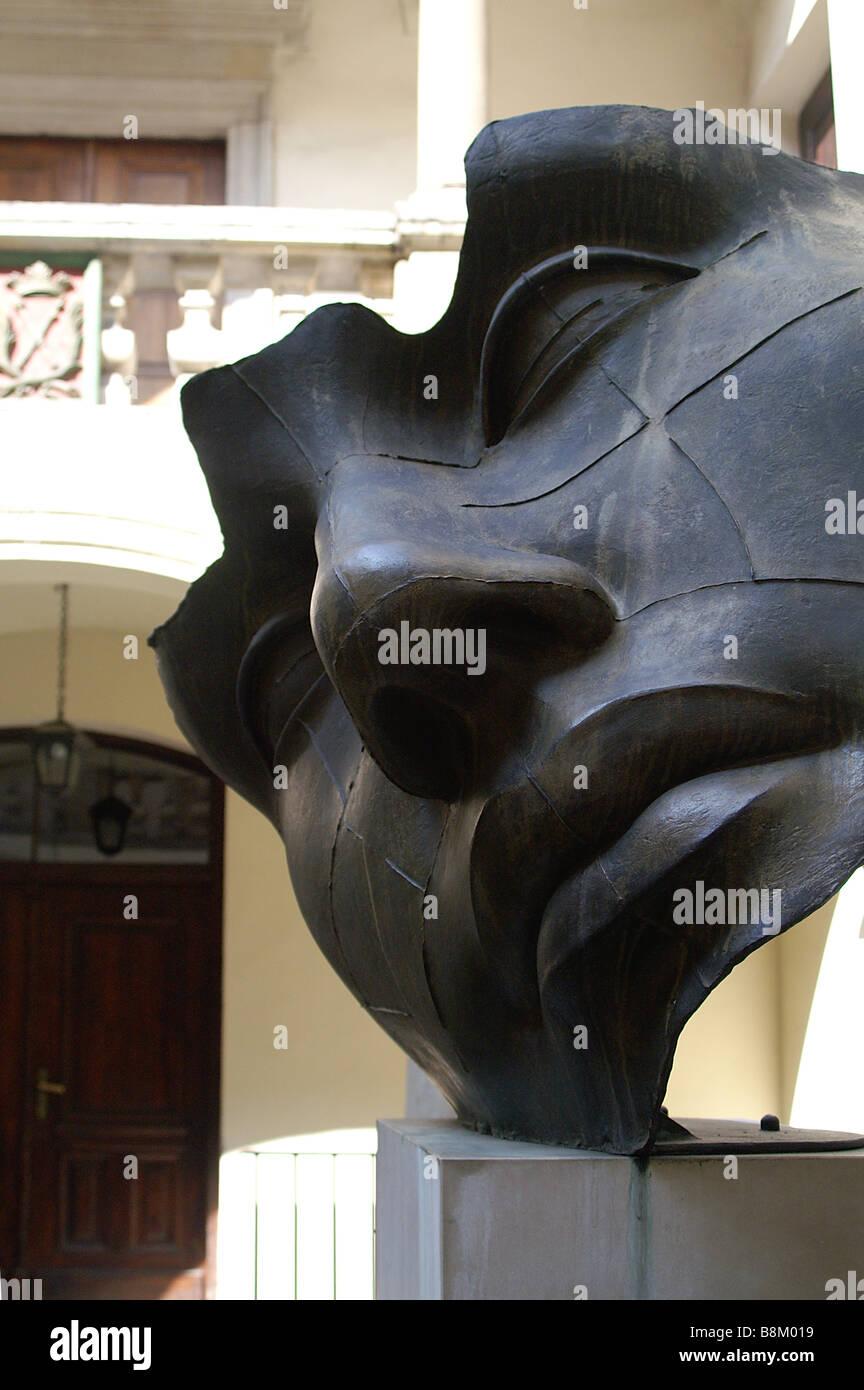"""""""Luci di Nara"""" sculpture by Igor Mitoraj in Collegium Iuridicum Cracow Poland Stock Photo"""