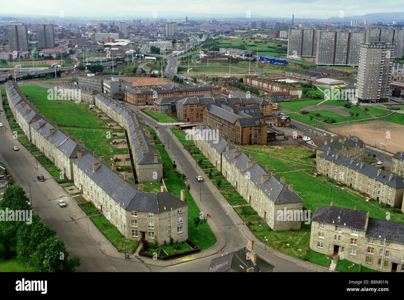 Edinburgh Scotland An aerial view of housing estates in ...